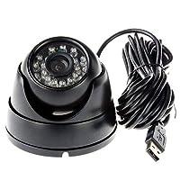 ELP 1.3メガピクセル低イルミネーション小型防犯用USBモジュールカメラ960p(ナイトビジョンドームケース3.6mm)