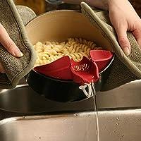 1PC野菜ウォッシュコランダプラスチックポット漏斗ストレーナウォーターフィルタドレーナ拡張可能な排水ふるい排水ツールOK 0469