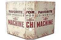 バインダー 2 Ring Binder Lever Arch Folder A4 printed Coffee machine