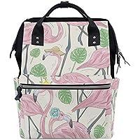 ママバッグ マザーズバッグ リュックサック ハンドバッグ 旅行用 可愛いフラミンゴ ファション