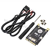 Hobbypower PCI-E Mini PCI ExpressアダプターV3.0 適用BCM94360CD BCM94331CM