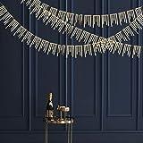 30 Feet Champagne Gold Tassel Garland Double Sided Metallic Glitter Paper Streamer Banner for Engagement Bachelorette Wedding