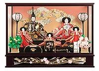 雛人形 久月 ひな人形 雛 ケース飾り 五人飾り よろこび雛 小十番親王 芥子官女 h023-k-9843