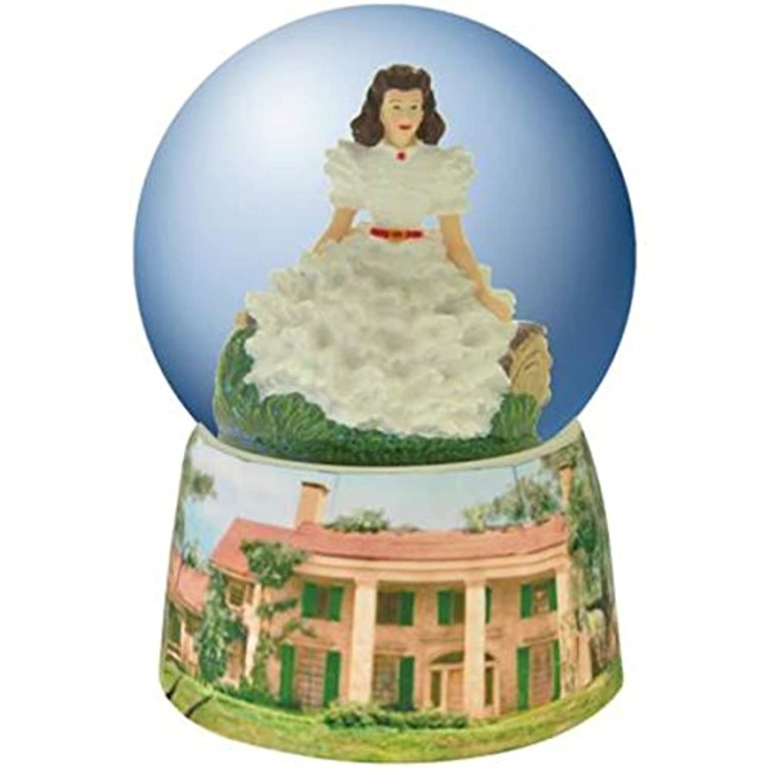 100 mm Gone With The Wind Water Globe withホワイトドレスScarlett