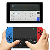 Maexus スイッチ用 ワイヤレス キーボード ミニキーボード Joy-Con ドッキング可能 2.4G無線伝送 USB レシーバー付き 200mAhバッテリー タイプ-C 電子版 日本語取扱説明書付