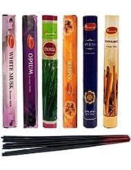 aromatika Incense Sticks Best Sellers 6ボックスX 20スティック、コンボパック、合計120 Sticks ( 120 Sticks )