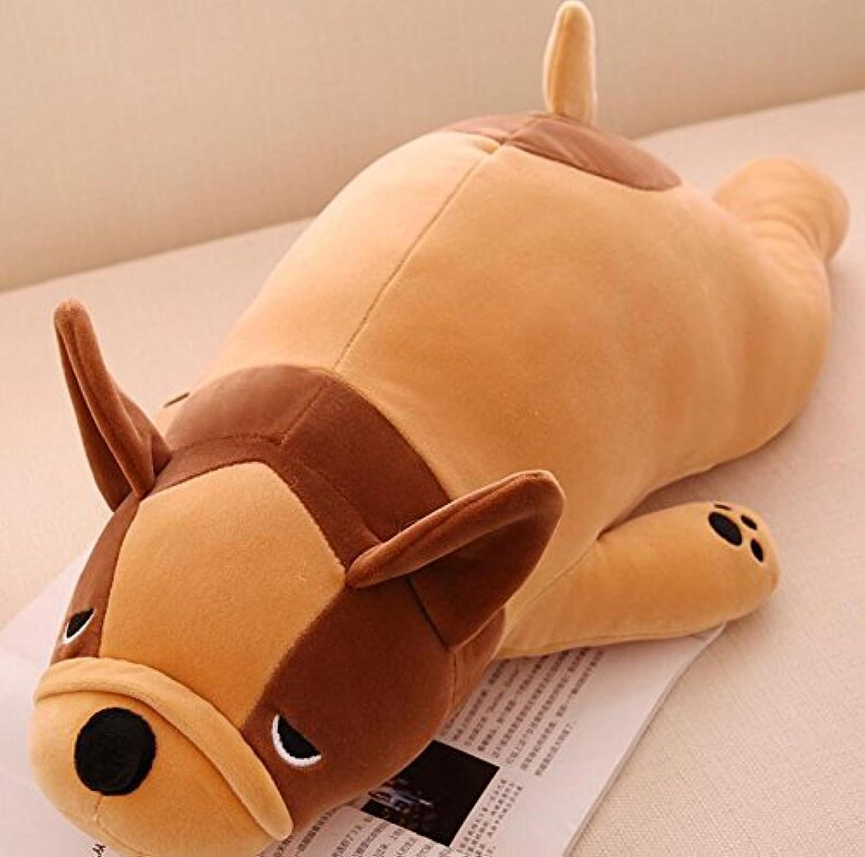 HuaQingPiJu-JP ぬいぐるみ45cm犬ソフトぬいぐるみ子供のためのソフトぬいぐるみ犬の贈り物(ブラウン)