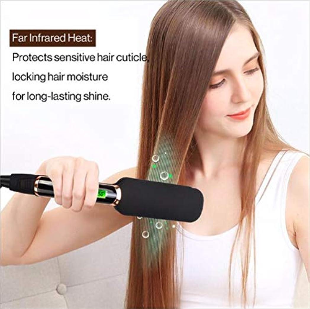 国リマーク成功したトルマリンセラミックバレルのビーチクリッパーヘアーアイロンの調整可能なLCD温度とすべての髪型に適した髪の毛のストレートユニセックス2で1