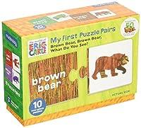 Mudpuppy (マッドパピー) くまさん くまさん なにみてるの? Eric Carle エリックカール 知育玩具 ペアパズル えいご学習 子ども英語 10種類 合計20枚 My First Puzzle Pairs