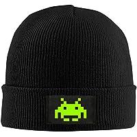 ニットビーニーキャップ帽子Space Invaders冬暖かい大人用