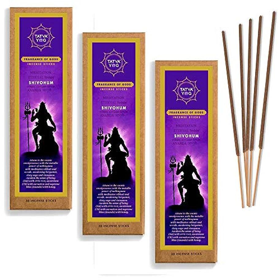 愚かなバック七時半Shivohum Long Lasting Incense Sticks for Daily Pooja|Festive|Office|Home|Scented Natural Agarbatti for Positive Energy|Good Health & Wealth (Pack of 3 | 30 Sticks Per Pack)