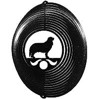 Cavalier King Charles Circle Swirly Metal Wind Spinner 2224