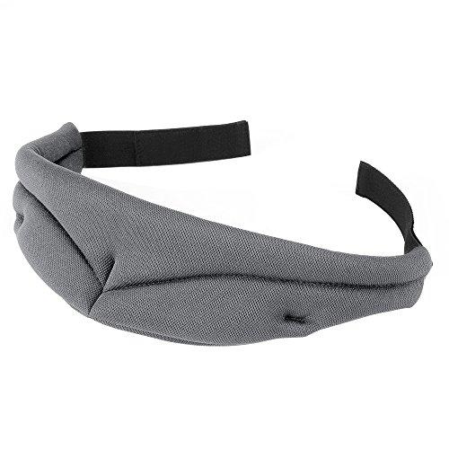 PLEMO 立体型睡眠アイマスク 形状記憶 男女兼用 超ソフト素材 睡眠 旅行に最適 (ダークグレー)