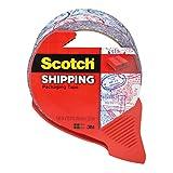 スコッチ梱包テープ、1.88インチx 32.8YD。パスポート、スタンプパターン