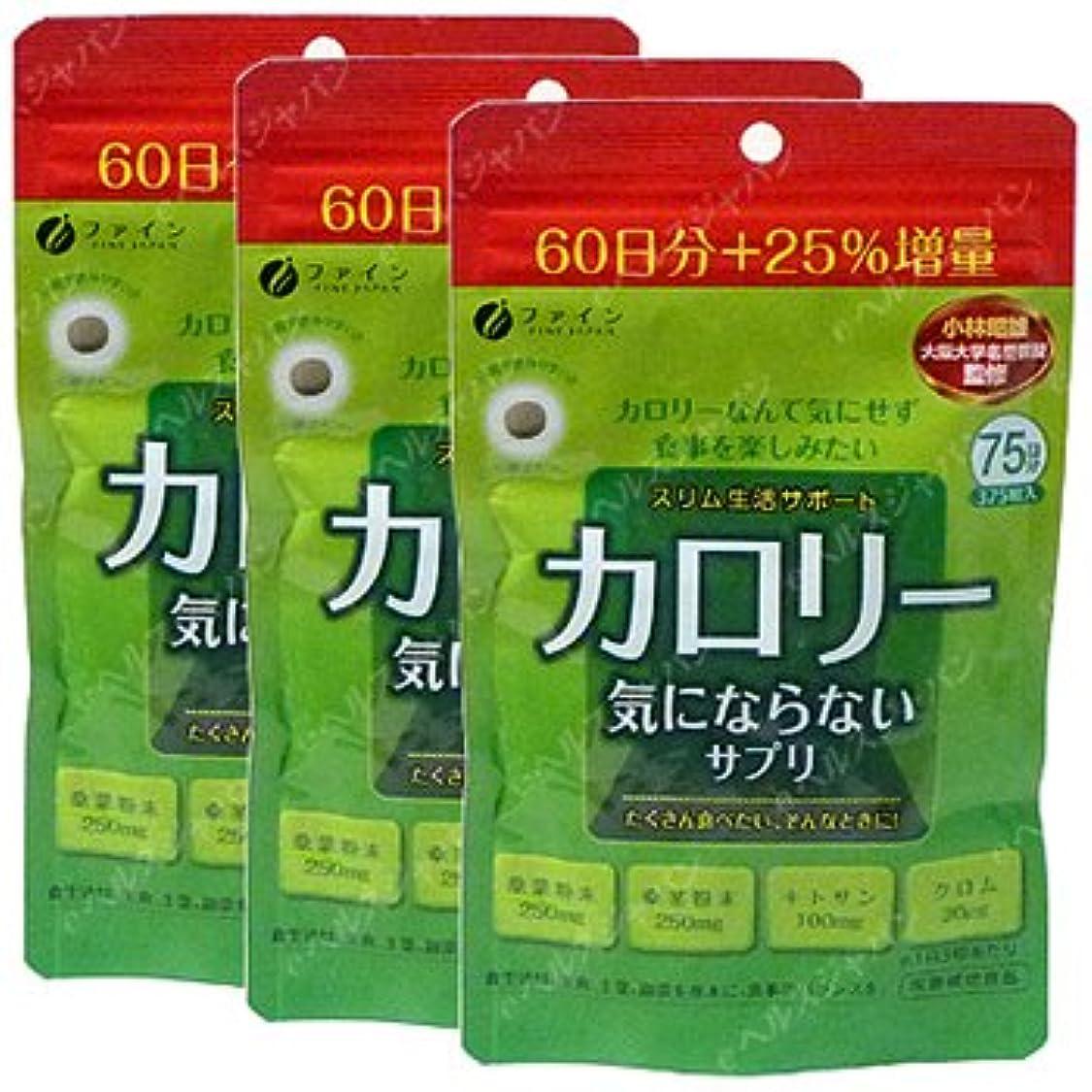 率直なサンダース熟すカロリー気にならない60回分+25%増量【3袋セット】ファイン
