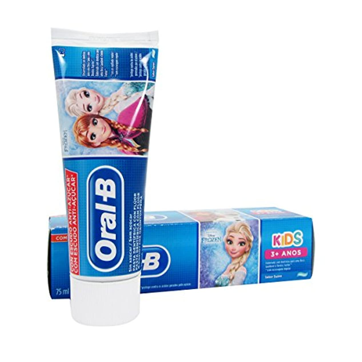 藤色確保するフレッシュOral B Kids Frozen Children's Toothpaste 75ml [並行輸入品]