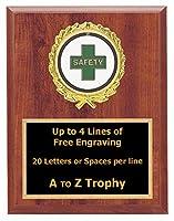 安全Plaque Awards 5x 7木製従業員Worker TrophiesビジネスTrophy Free Engraving