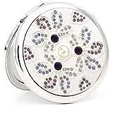 流行の ギフトミラーポータブル化粧鏡ポータブル折りたたみギフトセットギフト誕生日ギフトカラークリスタルダイヤモンド小さなミラー