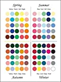 【10枚組】パーソナルカラーカード はがきサイズ【春・夏・秋・冬】オリジナルデザイン