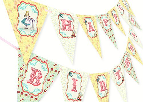 Alice in Wonderland Happy Birthday Banner by POP parties