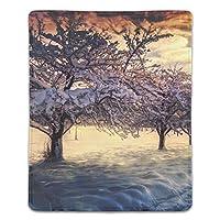 デザインマウスパッド 抗菌 空の日の出雪の冬の風景