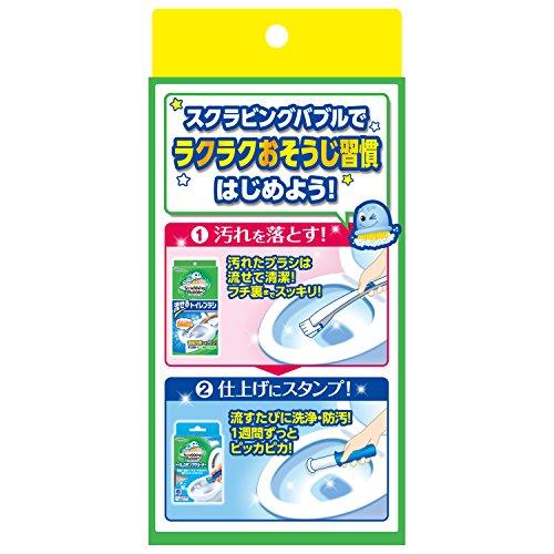 『スクラビングバブル トイレ洗剤 流せるトイレブラシ 付替用24個セット』の6枚目の画像