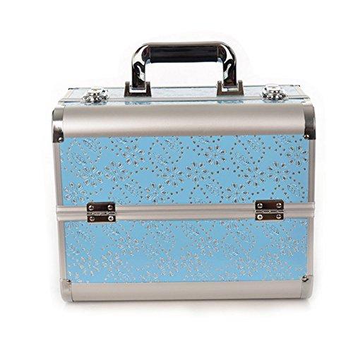 Remeehiプロ専用化粧ボックス 2段階 大サイズ 化粧BOX メイクボックス 雑貨 レディース 化粧品 コスメ 収納ボックス メイクボックス コスメボックス 13#