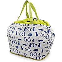 レジカゴに入るお買い物バッグ 内側保冷シート貼り 巾着タイプ