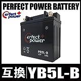 PERFECT POWER PB5L-B バイクバッテリー 充電済 互換 YB5L-B FB5L-B 12N5-3B GM5Z-3B 適合 RZ125 TZR125 TZR250 TDR250 R1-Z SRX400 RG250
