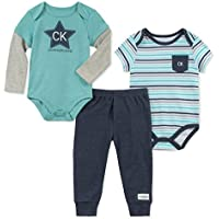 Calvin Klein Baby Two Solid Bodysuit with Pants Set