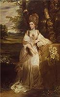 Oil painting ' Sir Joshua Reynolds–Lady Bampfylde、1776–1777'印刷on Perfect effectキャンバス、8x 13インチ/ 20x 33cm、最高のホームデコレーションとギフトは最高この価格、リビングルーム装飾アート装飾キャンバスプリント