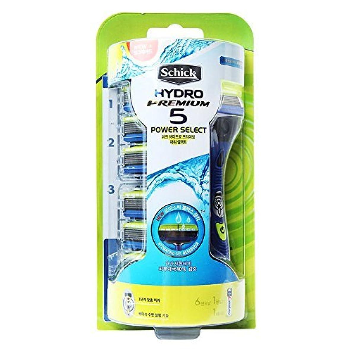 ブレンド教師の日誇張Schick HYDRO 5 Premium Power Select Razor / カミソリの刃6個が含ま [並行輸入品]