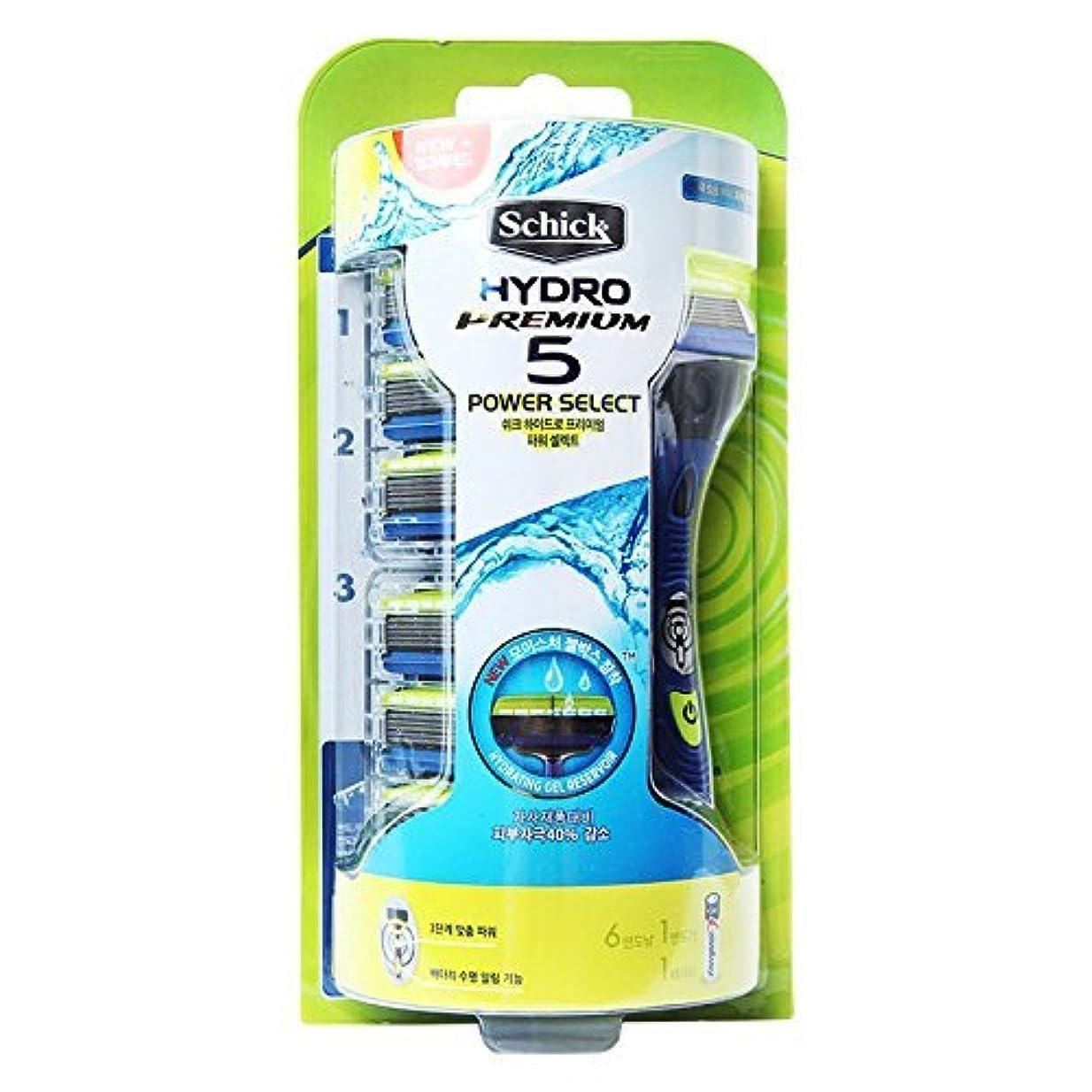 パネル満足できる活気づくSchick HYDRO 5 Premium Power Select Razor / カミソリの刃6個が含ま [並行輸入品]