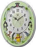 Disney ( ディズニー ) くまのプーさん 電波 からくり キャラクター 掛け時計 アナログ M523 白 リズム時計 4MN523MC03