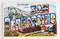 Greetings from San Bernardino California冷蔵庫マグネット( 2x 3インチ)
