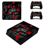 Zhhlinyuan 安定した品質 Replace Skin Sticker for PlayStatio PS4 Pro Console+Controllers Vinyl ステッカー