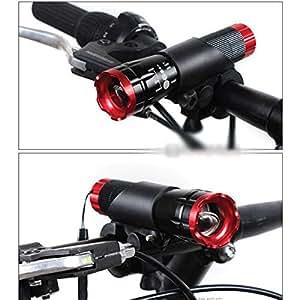 GGG JP バイク自転車サイクリングLED懐中電灯ホルダー フロントライト マウントクリップトーチブラケット
