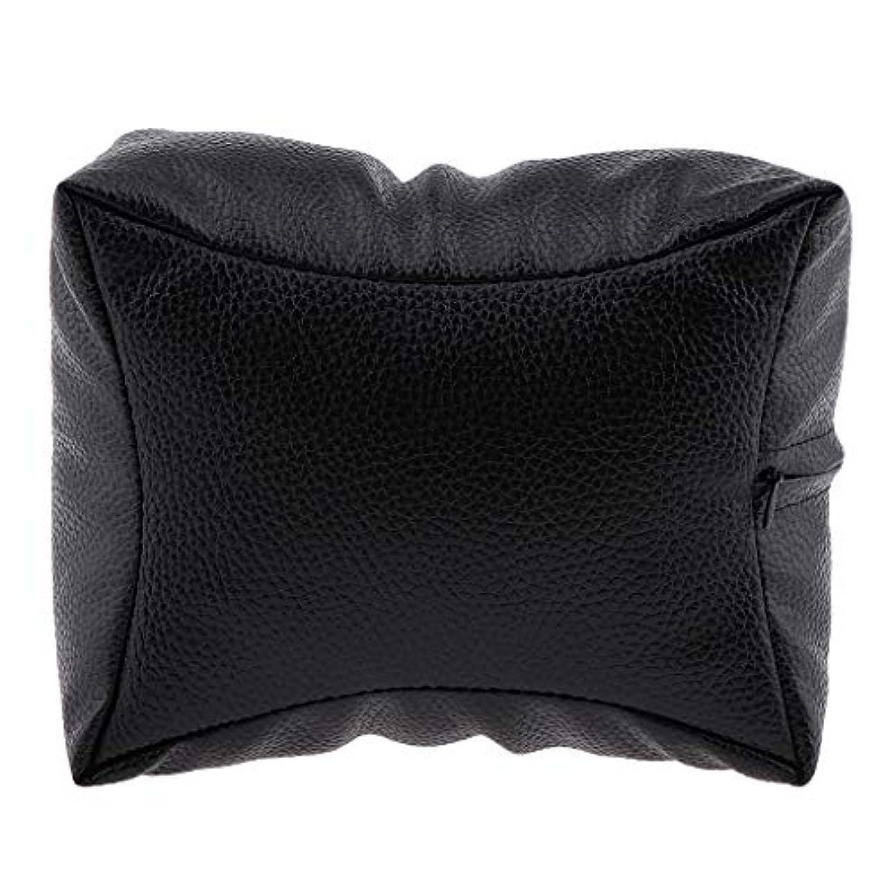 個人的な故意に金貸しネイルハンドピロー プロ ネイルサロン 手枕 レストピロー ネイルケア 4色選べ - ブラック