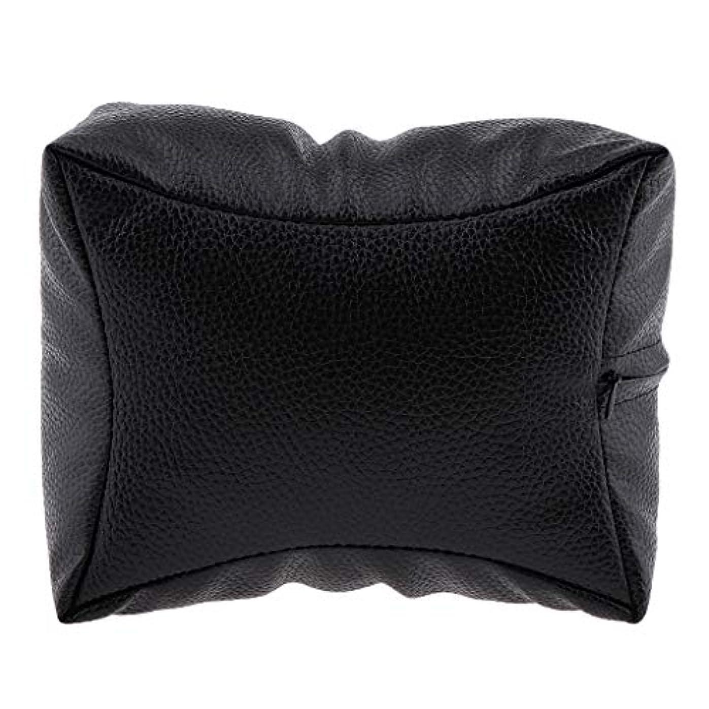 フィットネスなくなる不忠P Prettyia ネイルハンドピロー プロ ネイルサロン 手枕 レストピロー ネイルケア 4色選べ - ブラック