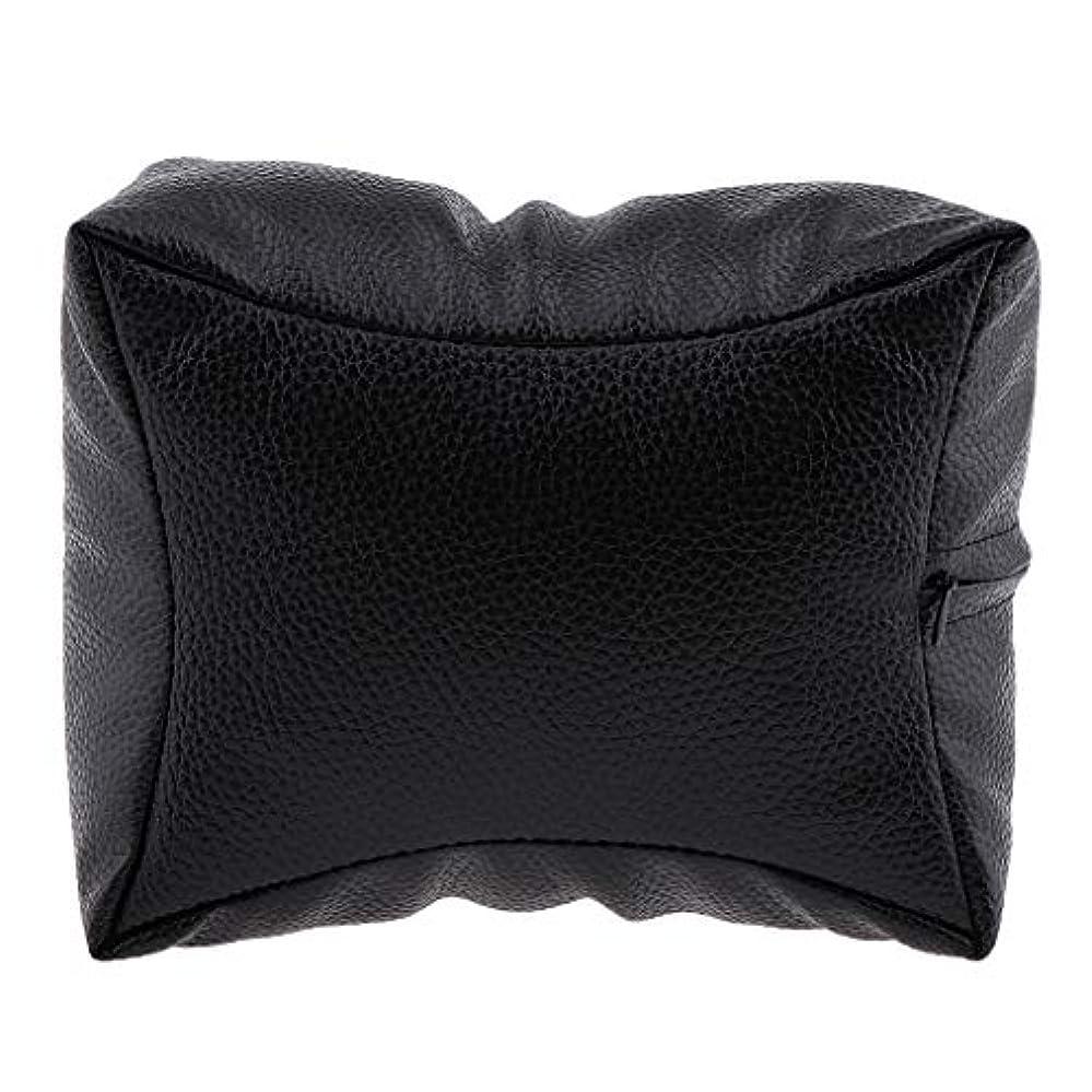宿題流出暗くするネイルハンドピロー プロ ネイルサロン 手枕 レストピロー ネイルケア 4色選べ - ブラック
