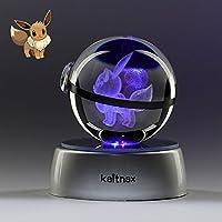 Kaitnax 3Dレーザーエッチングクリスタルボール (50mm) ランプ LEDベース 50mm kn-0012