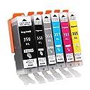 Canon-インク-351 キャノンインクカートリッジ351 350 互換 インク bci351XL + bci350XL 6色マルチパック mg5630- mg7530- ip7230- ts8130 ingood