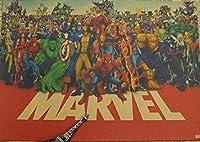 古典的なマーベルスーパーヒーローシリーズポスターレトロクラフト紙42 × 30センチ [並行輸入品]