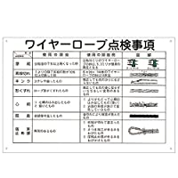 玉掛ワイヤーロープ標識 ワイヤーロープ点検事項 KY-104〔代引不可〕