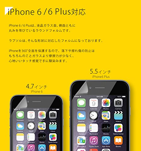 Wrapsol ラプソル 衝撃吸収フィルム 液晶+側面+背面保護 iPhone 6 対応 A002-IP647FB