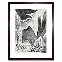 Painting Engraving Blake Divine Comedy Pit Disease Framed Wall Art Print ペインティングコメディー壁
