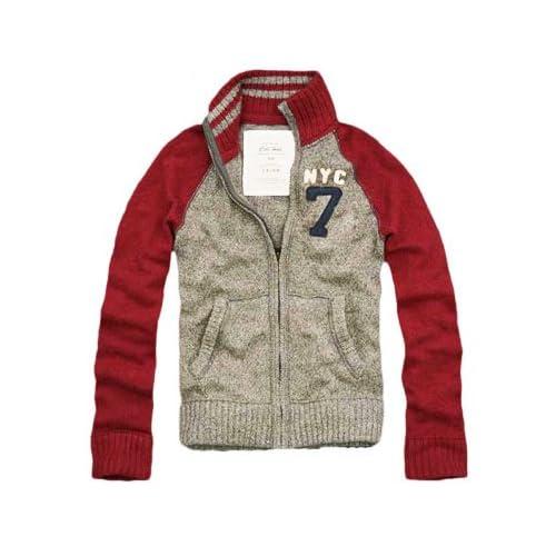Cali Holi(カリホリ)ニット トラックジャケット セーター グレー/レッド Lサイズ メンズ