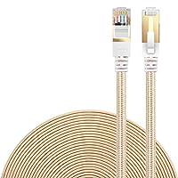 LANケーブル CAT7準拠 [Danyee®一年間保証] インターネットケーブル 結束マジックテープ付き 長さ1M 3M 5M 8M 10M 20M (1M, ゴールド)