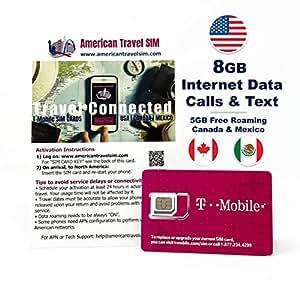 アメリカ T-Mobile SIM カード インターネット無制限使い放題 (通話とSMS、データ通信高速3GB 30日間)