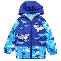 Baby Girls Boys Waterproof Raincoat Windbreaker Hooded Bomber Jacket